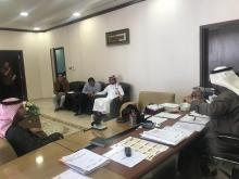 اجتمع عميد كلية العلوم والدراسات الانسانية بأعضاء اللجنة التنسيقية للملتقى العلمي الثالث ومنسقي الأقسام للأنشطة الثقافية