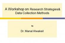 دورة استراتيجيات البحث و طرق جمع البيانات بكليات الأفلاج ( أقسام الطالبات )