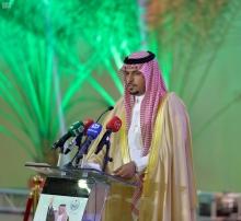 وكيل الجامعة للفروع يلقي كلمة أهالي محافظة وادي الدواسر بحفل أمير منطقة الرياض