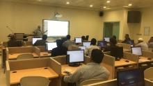 """كلية إدارة الاعمال بالخرج تنظم ورشة عمل عن """"بناء المحتوى التعليمي لإنشاء دروس الكترونية وفق معايير الجودة على نظام البلاك بورد"""""""