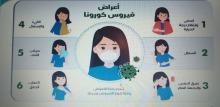 """حملة بعنوان"""" الوعي الصحي -فيروس كورونا """" ينظمها نادي العلوم الأساسية بعمادة السنة التحضيرية"""