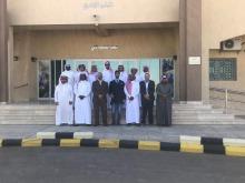 طلاب كلية التربية بوادي الدواسر يزورون المعهد الثانوي الصناعي