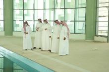 مدير إدارة المشاريع المهندس فهد الكنهل يتفقد عدد من مشاريع الجامعة