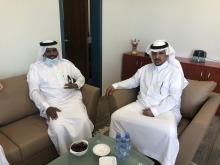 عميد كلية الآداب والعلوم بوادي الدواسر يستقبل مساعد رئيس البلدية بالمحافظة