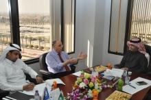 وفد برئاسة د.السهلي يزور عمادة التطوير والجودة بجامعة الملك سعود