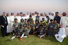 كلية العلوم والأداب بوادي الدواسر تحقق بطولة كأس مدير الجامعة لكرة القدم