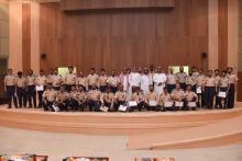 """اختتام دورة """" المهارات الأساسية الخاصة بحارس الأمن """" بجامعة الأمير سطام بن عبدالعزيز - بالخرج"""