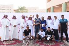 كلية العلوم والدراسات الإنسانية بالخرج تحقق بطولة الجامعة الثالثة لاختراق الضاحية