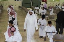 عميد كلية المجتمع بالخرج يشرف على بدء الاختبارات النهائية