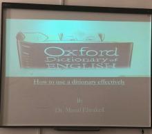 ورشة ( كيفية استخدام القاموس بطريقة فعالة ) بكلية العلوم والدراسات الإنسانية بالأفلاج شطر الطالبات