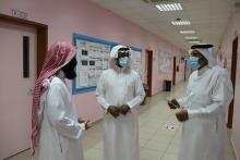عميد كلية المجتمع بالخرج يتفقد مبنى أقسام الطالبات