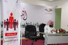 لقاء عميد كلية إدارة الأعمال في الحوطة بالطلاب المستجدين