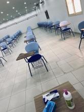 وكيلة الجامعة لشؤون الطالبات تتفقد سير الاختبارات الفصلية في أقسام الطالبات بكليات الجامعة