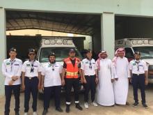 عشيرة الجوالة بكلية المجتمع بالخرج في زيارة إلى الهلال الأحمر السعودي
