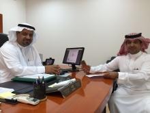 اللقاء الأول مع عميد كلية الآداب والعلوم بوادي الدواسر الدكتور سفر بن بخيت المدرع