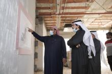 رئيس جامعة الأمير سطام يزور مبنى القاعات الإضافية لكلية إدارة الأعمال للبنات